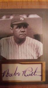 Genuine Babe Ruth baseball card autograph edition